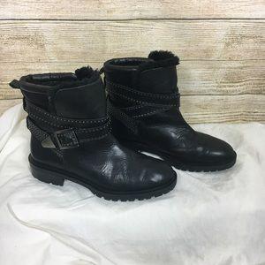 Zara Shoes - EUC Zara Woman Lined Moto Boots Studded Detail